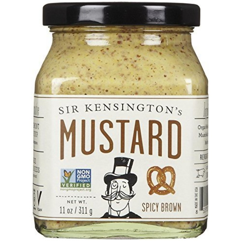 ... Gluten Free Items > Sir Kensington's Mustard - Spicy Brown - 11 Ounce