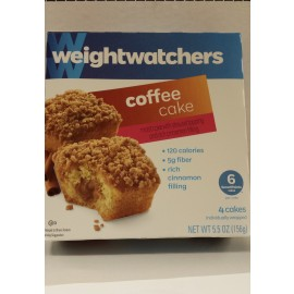 Weight Watchers Coffee Cake with Cinnamon Filling - 4 Cakes Per Box