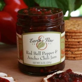 Earth & Vine Red Bell Pepper & Ancho Chili Jam 10.7 Ounces