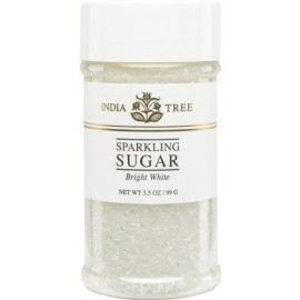 India Tree Bright White Sparkling Sugar, 3-1/2 oz.