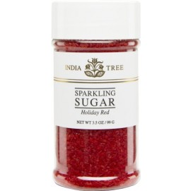 India Tree Holiday Red Sugar Sprinkles