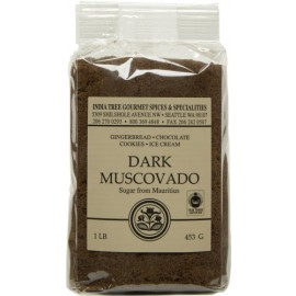 India Tree Dark Muscavado Baking Sugar - 1lb Bag