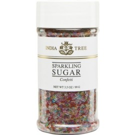 India Tree 3-1/2-Ounce Sparkling Sugar, Confetti