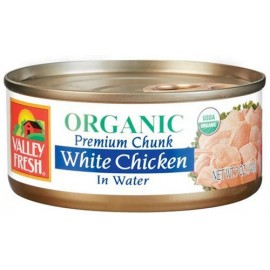 Valley Fresh Organic White Chicken in Water, 5-Ounce Cans