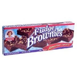 Little Debbie Snacks Fudge Brownies, 12-Count Box of 6-Packages