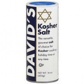 David's Kosher Salt Canister - 16 Ounce