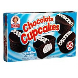 Little Debbie Chocolate Cupcakes; 8-Creme filled cakes