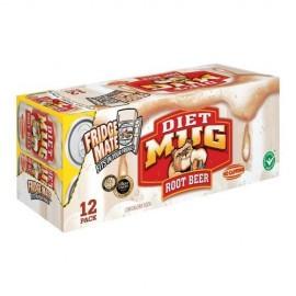 Mug Root Beer Diet, 24-pack,12 oz Can
