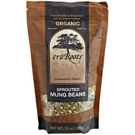 Truroots Organic Sprouted Mung Beans, 10-Ounce Pouch