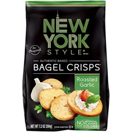 New York Style Original Bagel Crisps Roasted Garlic 7.2 Ounces