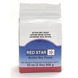 Red Star Active Dry Yeast, 2 Pound Pouch; Gluten Free, Non-GMO, Kosher, Vegan