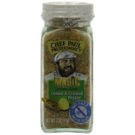 Chef Paul Prudhomme's Magic Seasoning Blends No Salt & No Sugar, Lemon and Cracked Pepper, 2-Ounce