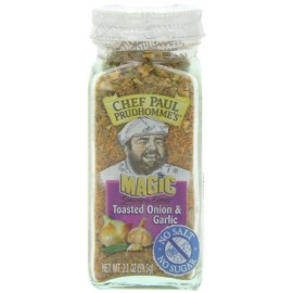 Chef Paul Prudhomme's Magic Seasoning Blends No Salt & No Sugar, Toasted Onion and Garlic, 2.1-Ounce