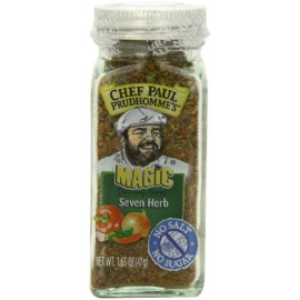 Chef Paul Prudhomme's Magic Seasoning Blends No Salt & No Sugar, Seven Herb, 1.65-Ounce