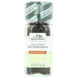 The Spice Hunter Tellicherry Peppercorns Grinder, 2.2-Ounce Jar