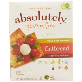 Absolutely Gluten Free Toasted Onion Flatbread, 5.29-Ounce