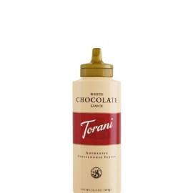 Torani White Chocolate Sauce,16.5 oz Squeeze Bottle
