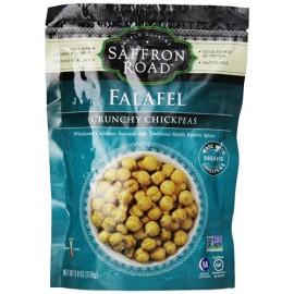 Saffron Road Crunchy Chickpeas, Falafel, 6 Ounce; Vegan; Gluten Free; Non-GMO