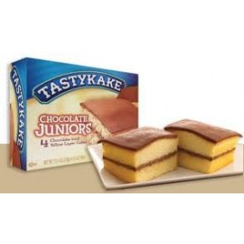 Tastykake Chocolate Juniors - 4 Chocolate-Topped Yellow Layer Cakes