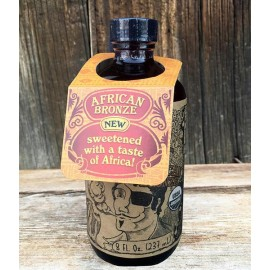 Fire Cider African Bronze - Apple Cider Vinegar & Honey Tonic - 8 ounces - in amber bottle