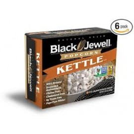Black Jewell Premium Microwave Popcorn, Kettle, 3-Count, 10.5-Ounce Boxes (Pack of 6)