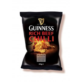 Burt's Guinness Rich Chili Flavor Thick Cut Potato Chips, 5.3 Ounce - Burt's Hand Cooked Potato Chips with Guiness