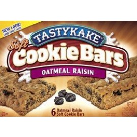 Tastykake Oatmeal Raisin Cookie Bars - 6 Individually Wrapped Bars