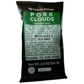 Pork Clouds Rosemary & Sea Salt Large Size - 2 Oz. - by Bacon's Heir