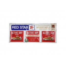 Red Star Active Dry Yeast - 1 strip of 3 packages, Gluten Free, Non-GMO, Kosher, Vegan