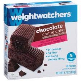 Weight Watchers Chocolate Creme Cake - 6 Cakes