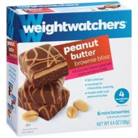 Weight Watchers Peanut Butter Brownie Bliss - 6 Mini Brownies